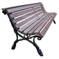 скамейка с полимерным брусом
